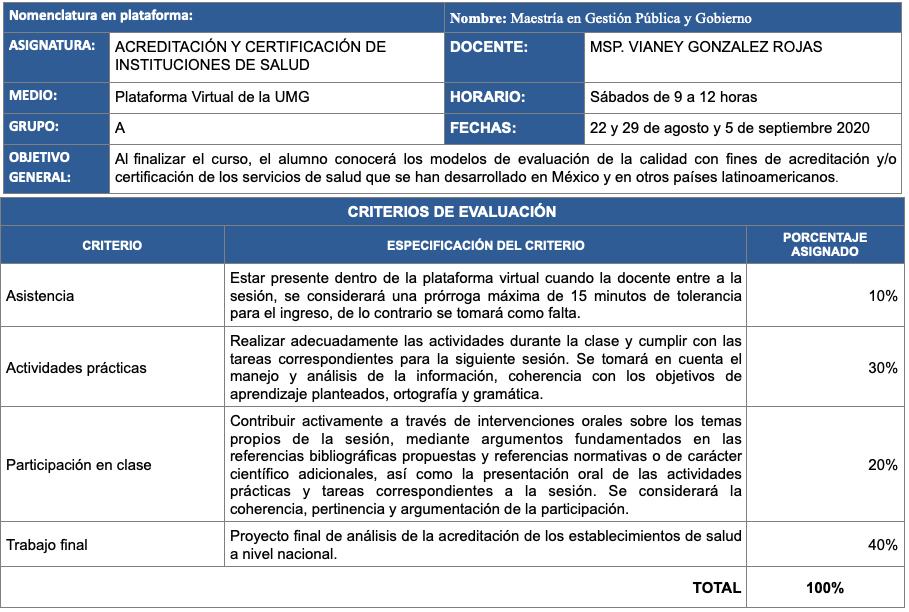 ACREDITACIÓN Y CERTIFICACIÓN DE INSTITUCIONES DE SALUD
